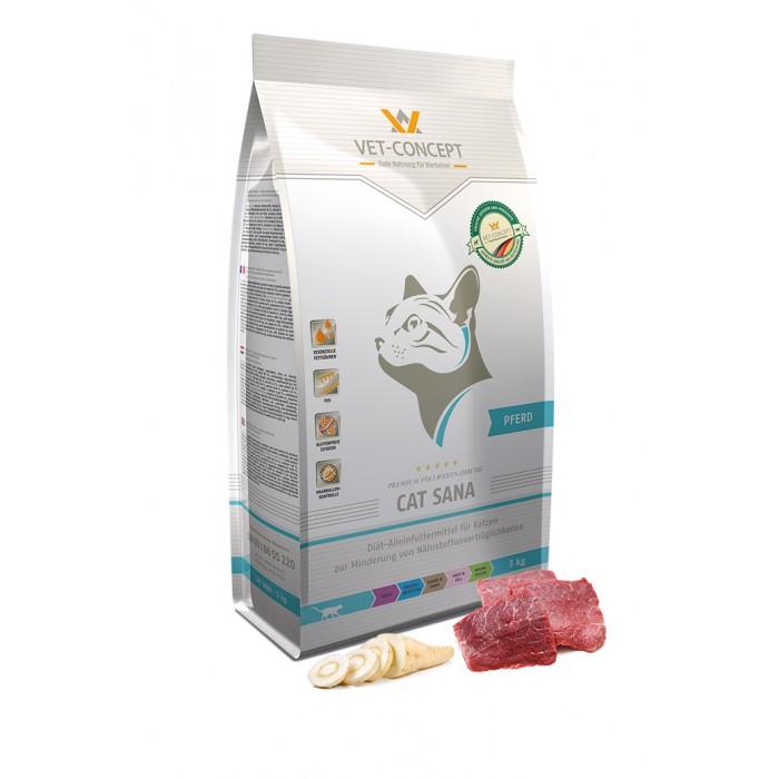 Maistas alergiškoms katėms su arkliena Vet - Concept Cat Sana Pferd 3kg