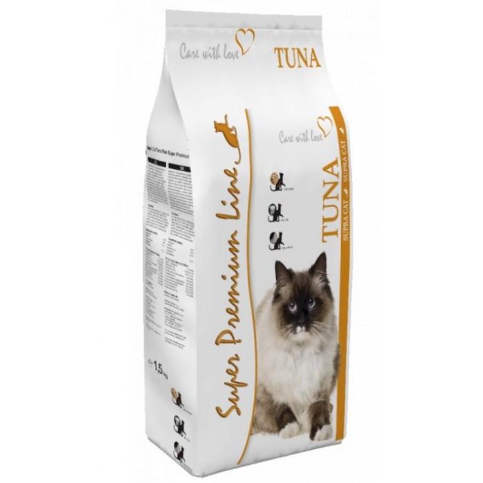 Sausas maistas katėms su tunu Supra Cat Tuna 1,5 kg