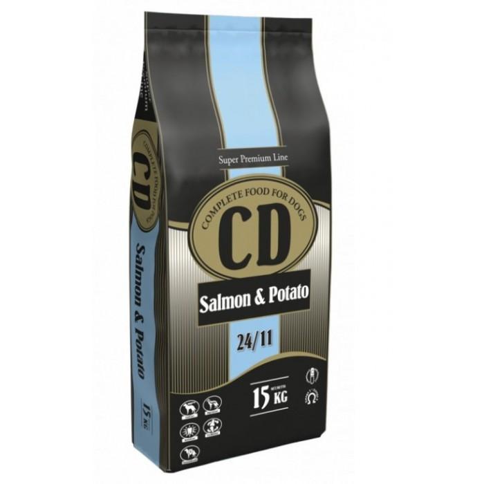 Maistas šunims su lašiša CD Salmon & Potato 15 kg