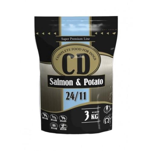 Maistas šunims su lašiša CD Salmon & Potato 3 kg