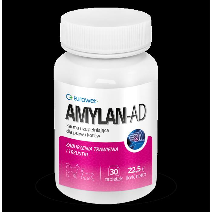 Papildas virškinimui ir kasai Amylan-Ad 30 tab.