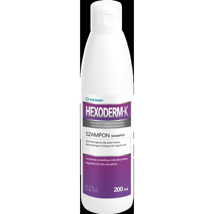 Dermatologinis šampūnas šunims ir katėms Eurowet Hexoderm-K 200 ml