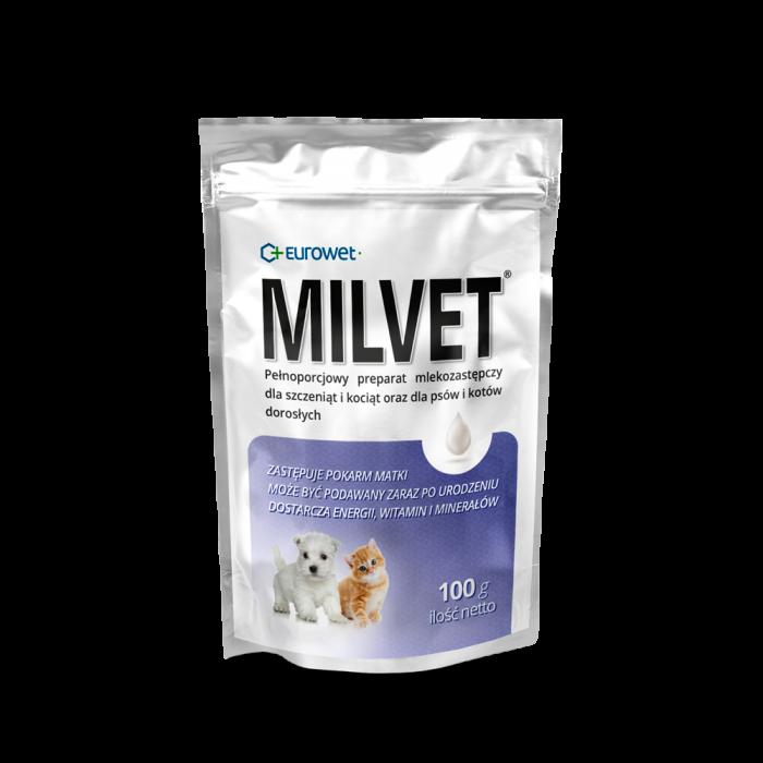 Pieno pakaitalas šuniukams ir kačiukams  MILVET 10*100 g