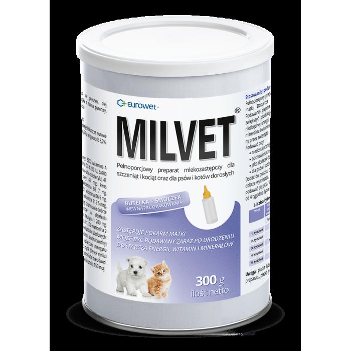 Pieno pakaitalas šuniukams ir kačiukams  MILVET 300 g