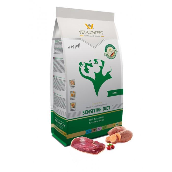 Maistas alergiškiems šunims su žąsiena Vet - Concept Sensitive Diet Gans 3 kg