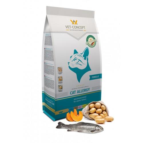 Maistas alergiškoms katėms su upėtakiu Vet - Concept Cat Allergy Forelle 3 kg