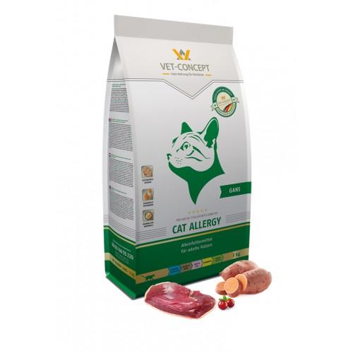 Maistas alergiškoms katėms su žąsiena Vet - Concept Cat Allergy Gans 3 kg