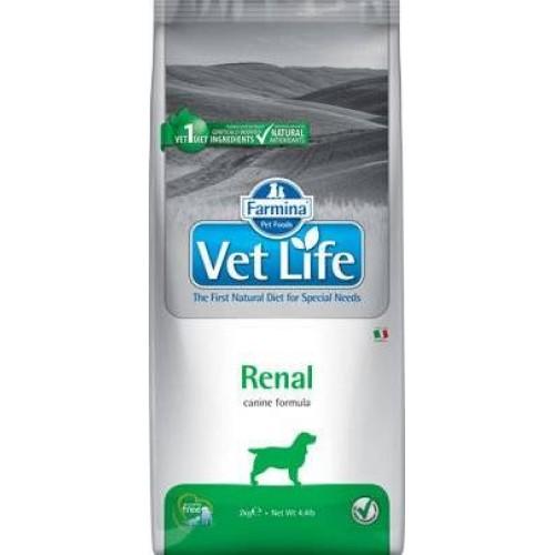 Maistas šunims inkstams Vet Life Dog Renal 12kg