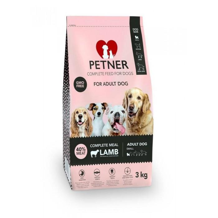 Maistas mažų veislių šunims su ėriena Petner 3 kg