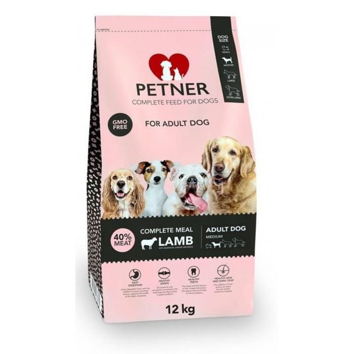 Maistas vidutinių veislių šunims su ėriena Petner 12 kg