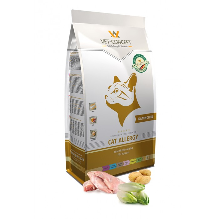 Maistas alergiškoms katėms su triušiu Vet - Concept Cat Allergy 3 kg